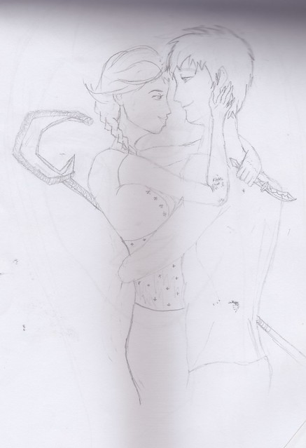 Drawings: Jack Frost and Elsa of Arendale
