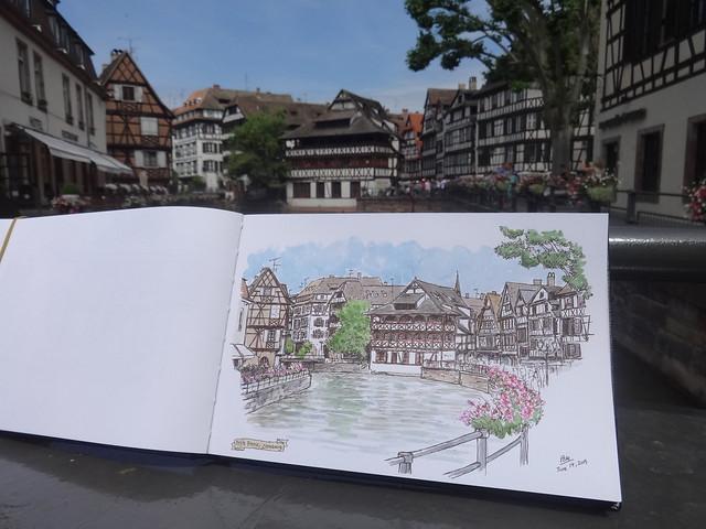 Sketching in Petite France
