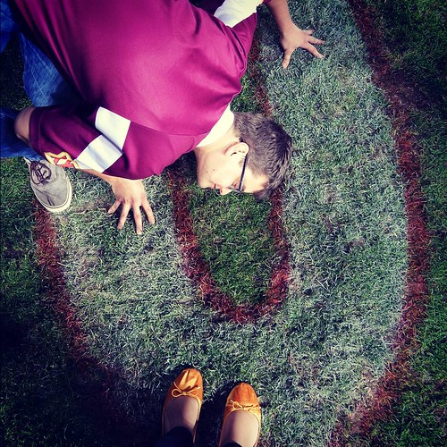 My gold shoes + Nate kissing the turf at Suncorp.