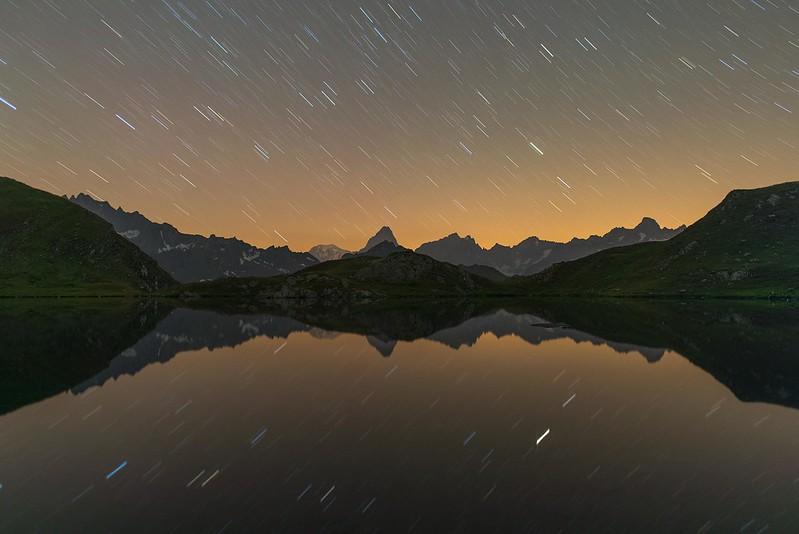 Star trails - Lacs de Fenêtre