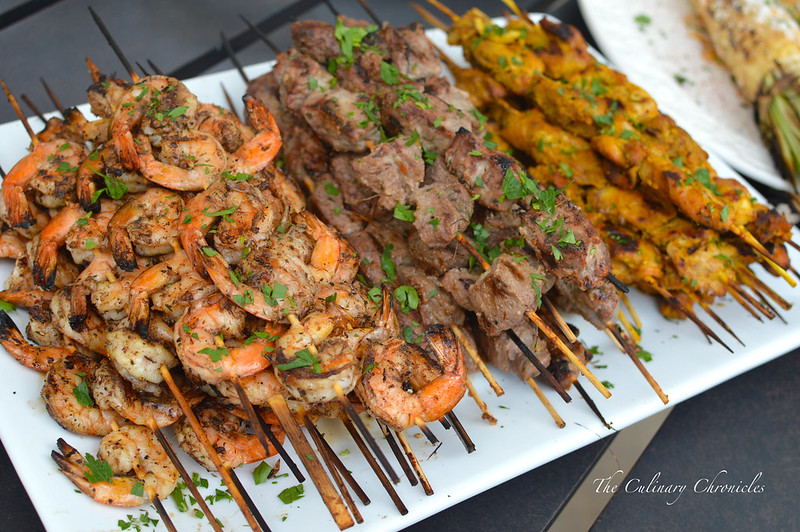 June 2015 Family Dinner- Skewers