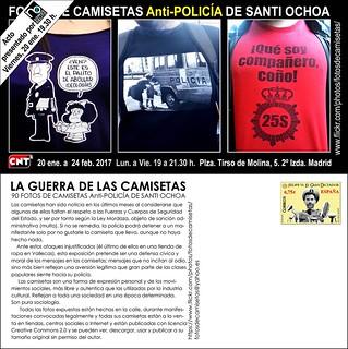 EXPOSICIÓN 90 Fotos Camisetas Anti-POLICÍA