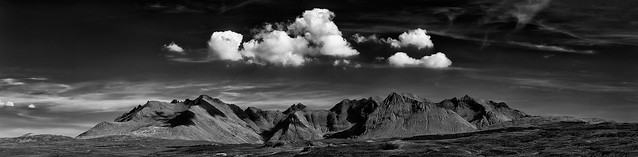 Fluffy clouds over the Cuillin