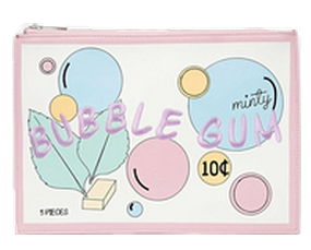 bubble gum clutch