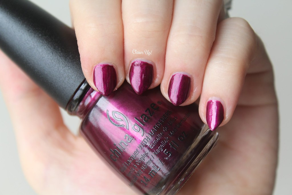 Autumn Nights Collection China Glaze Don't Make Me Wine Swatch