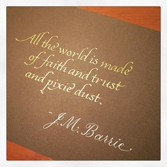 The #quote of the week on @reddit #quotation #calligraphy #JMBarrie #faith #trust #fantasy