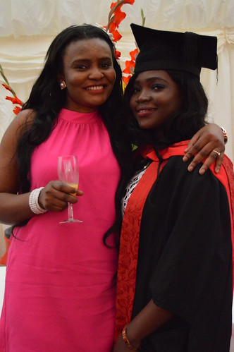 Atoyebi Bukola Victoria with her friend, Beverly Ikpi who is also studying at UWE