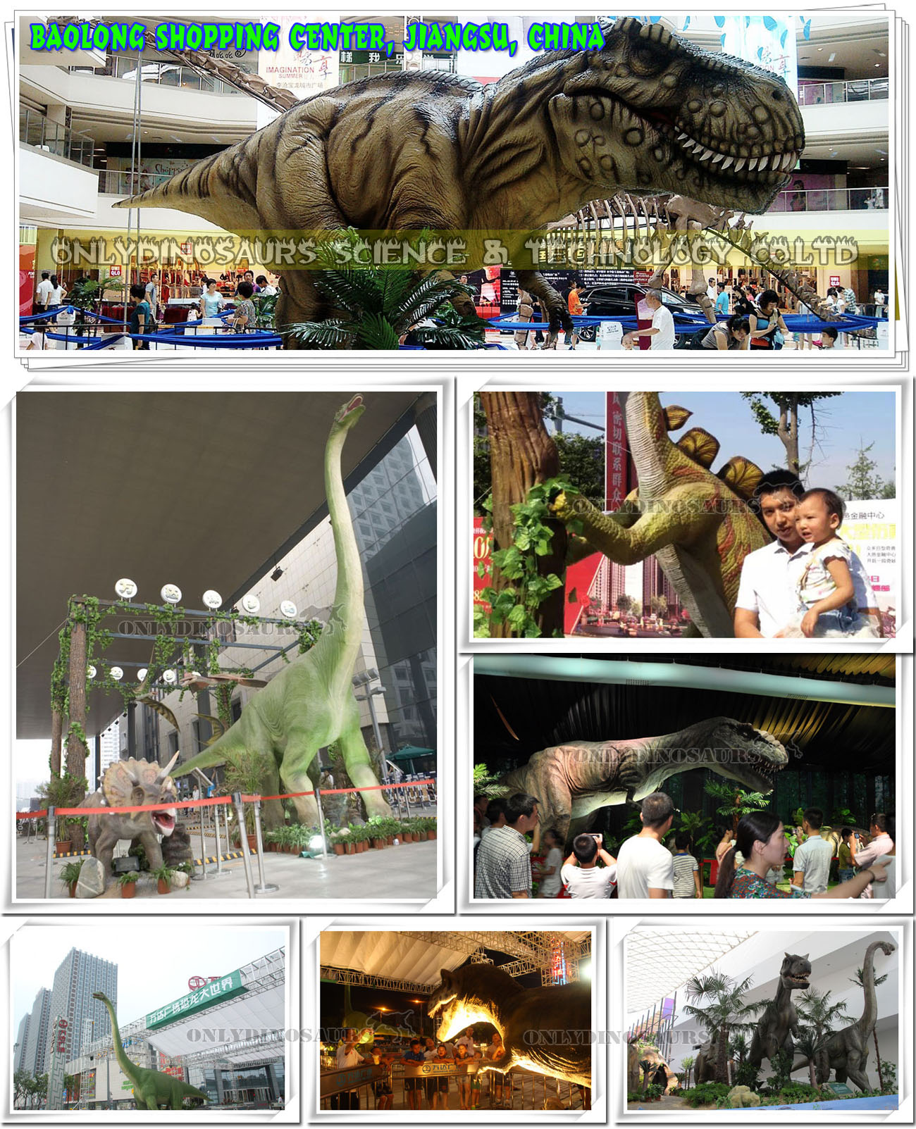 Dinosaurs Alive in Shopping Center