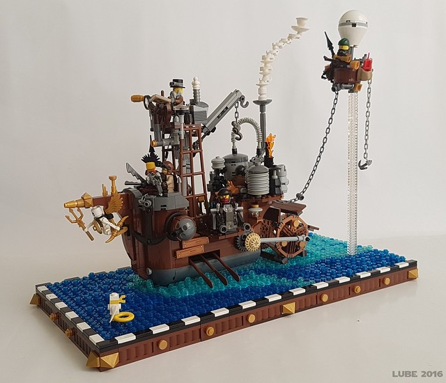 Steampunk steamboat