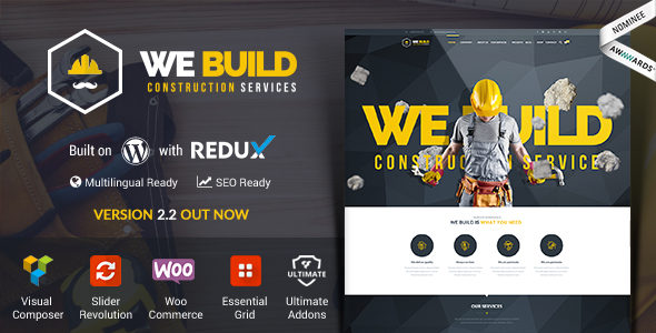 We Build v2.3 – Construction, Building WP Theme