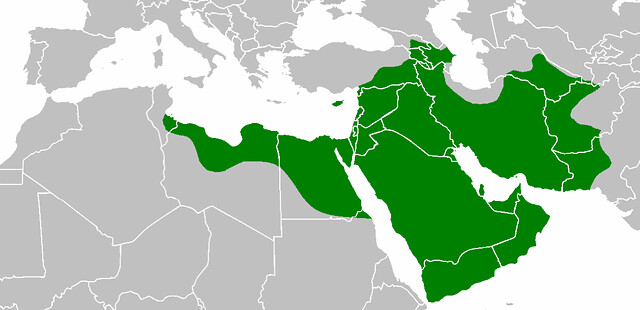 Empire of the Rashidun Caliphate during the reign of Ali
