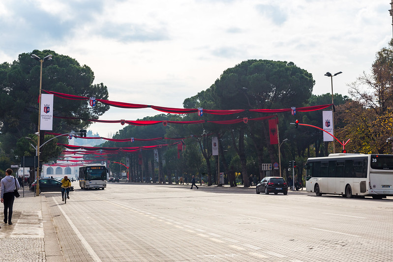 Martyrs of the Nation Boulevard - Tirana