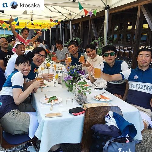 #gcrasuke 最高のライドをありがとうございました。 @ktosaka with @repostapp. ・・・ ビールうまいぜ!ディナーうまいぜ!#GCRASUKE #galibeer