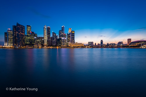 longexposure nightphotography travel blue sunset water night marina buildings bay nikon singapore asia colours skyscrapers wideangle esplanade cbd offices d800 1635mm