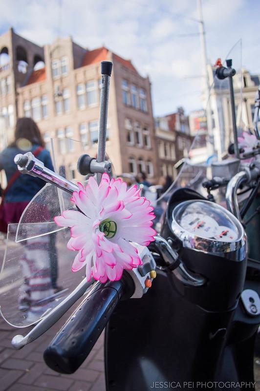 Amsterdam Flower on Motorcycle