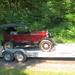 Model T on trailer