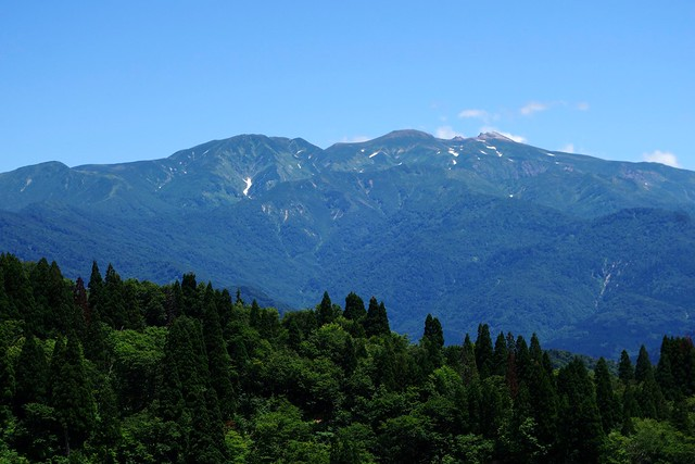 林道白木峠線からの白山