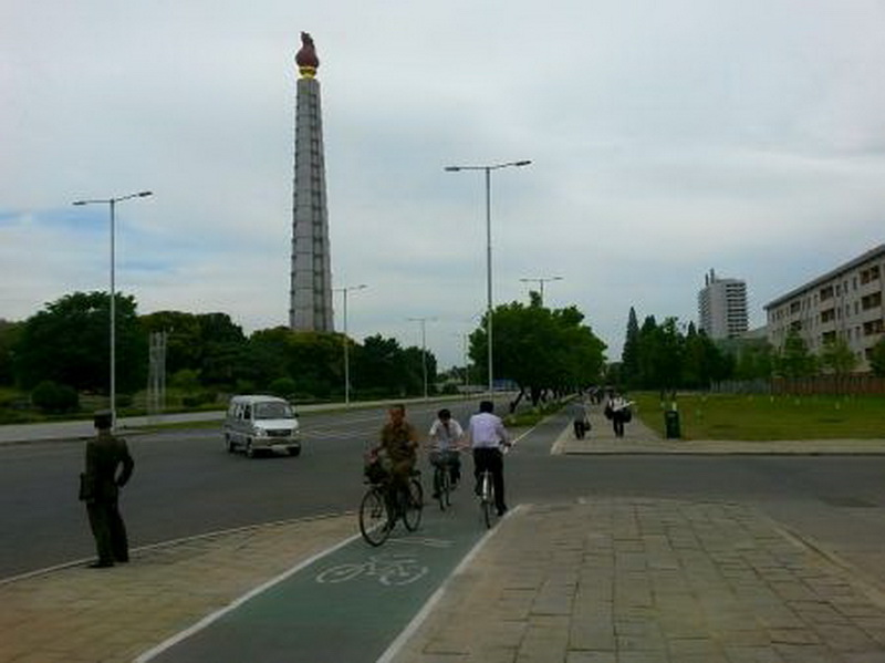 Bike lanes Pyongyang