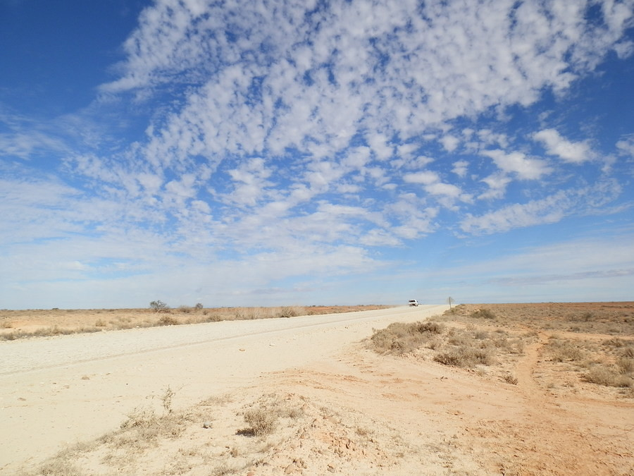 Sky above the Strzelecki Track, via Lyndhurst, South Australia