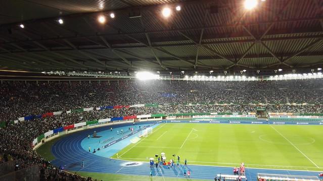 Die Rapid-Fankurve vor Rapid - Ajax