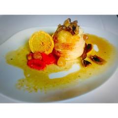 Turnedó de rape a la naranja #restaurant #Aires del #chef #XavierSagrista en el @hotelperalada #esperalada #cosesdeperalada #incostabrava #emporda #perelada #igersGirona #igersemporda #igerscatalunya #pereladaresort #pereladagolf