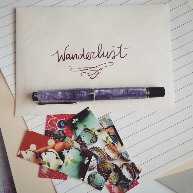 Finally got to write a letter for this project #wanderbox #wanderlust #pelikansouverän #beingpelikan #pelikan #fountainpen #funtainpen #fpgeeks #m620 #athens