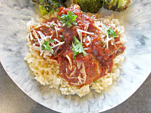 Cinnamon Meatballs with Red Wine Marinara