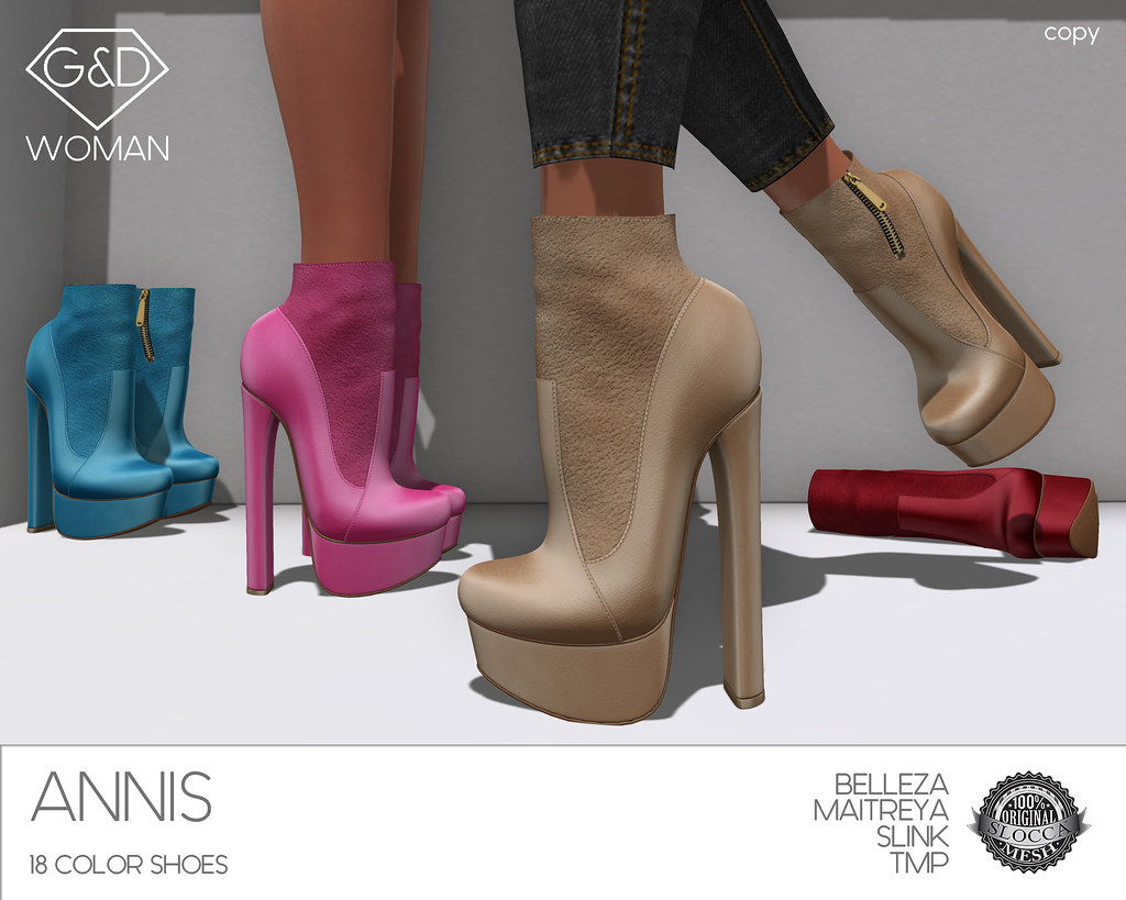 G&D Ankle Boots Annis adv - SecondLifeHub.com