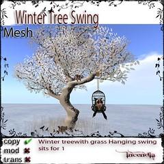 Winter Tree Swing