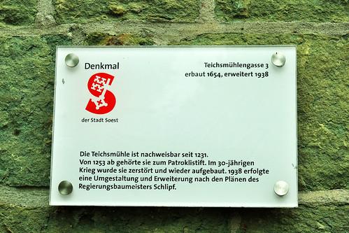 Soest Nordrhein-Westfalen Fachwerk Fachwerkhaus Architektur Sehenswürigkeiten Teichsmühle Juni 2015 Foto Brigitte Stolle