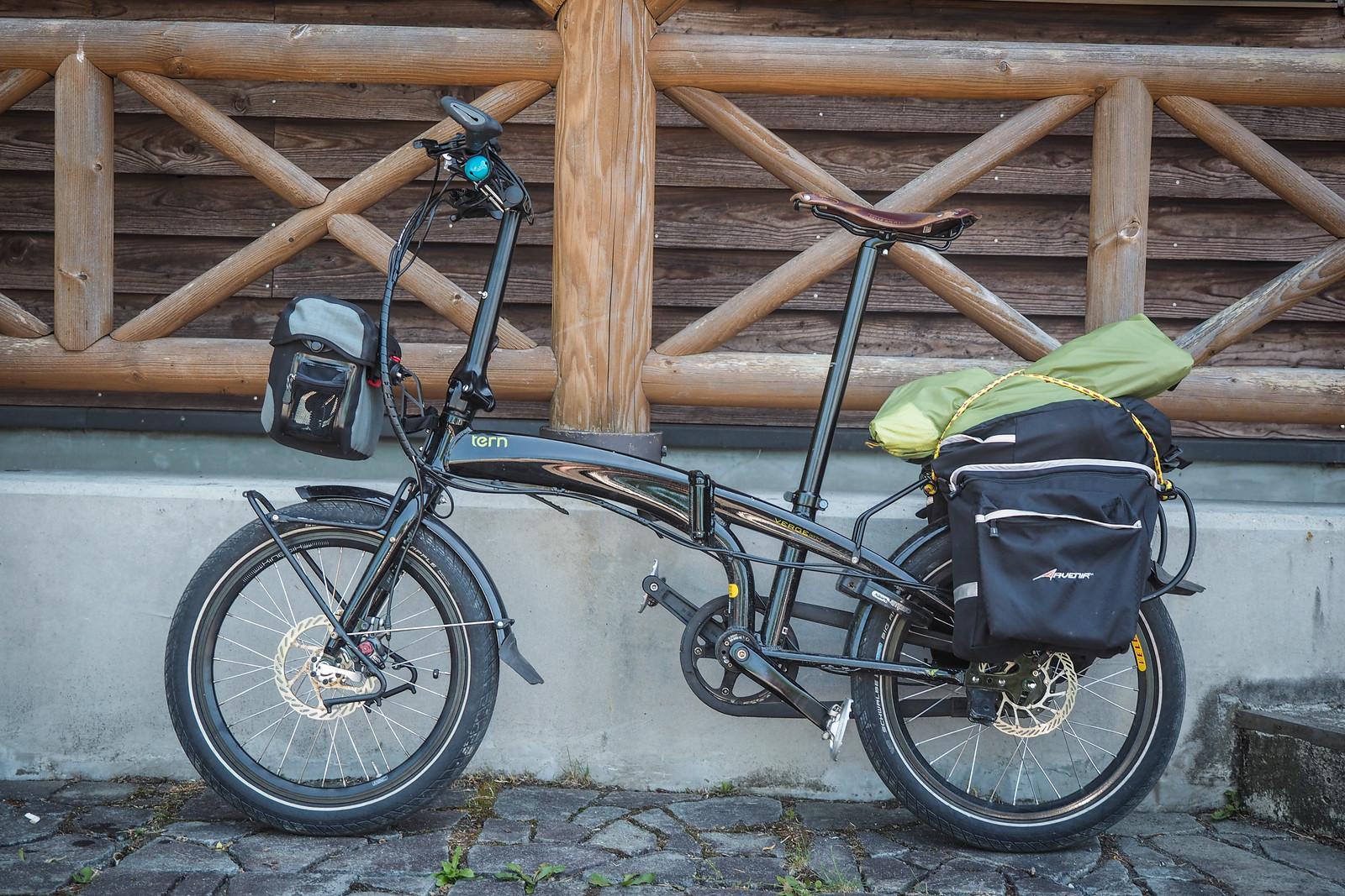 Tern Verge S27h folding touring bicycle (Chitose City, Japan)