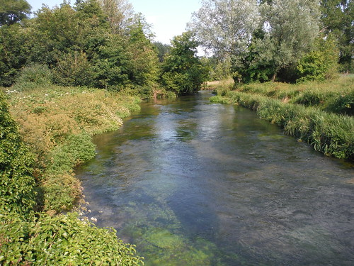 River Itchen by Winchester College