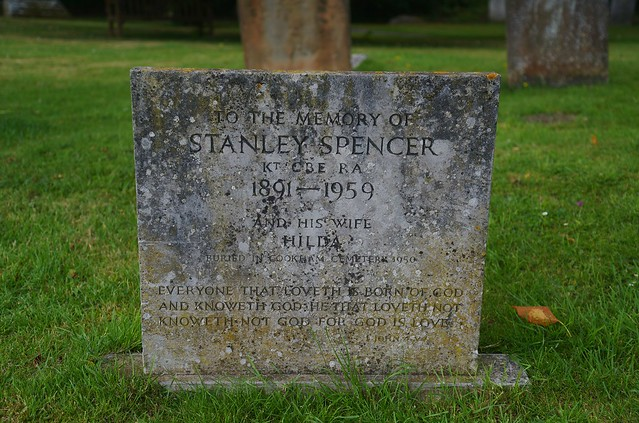 Stanley Spencer's Memorial Stone, Holy Trinity Church, Cookham, Berkshire