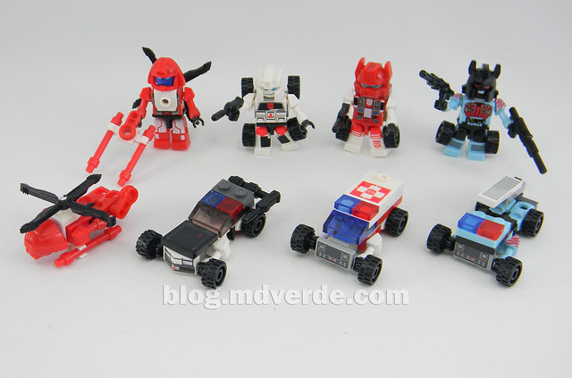 Transformers Defensor Kre-O - modos individuales