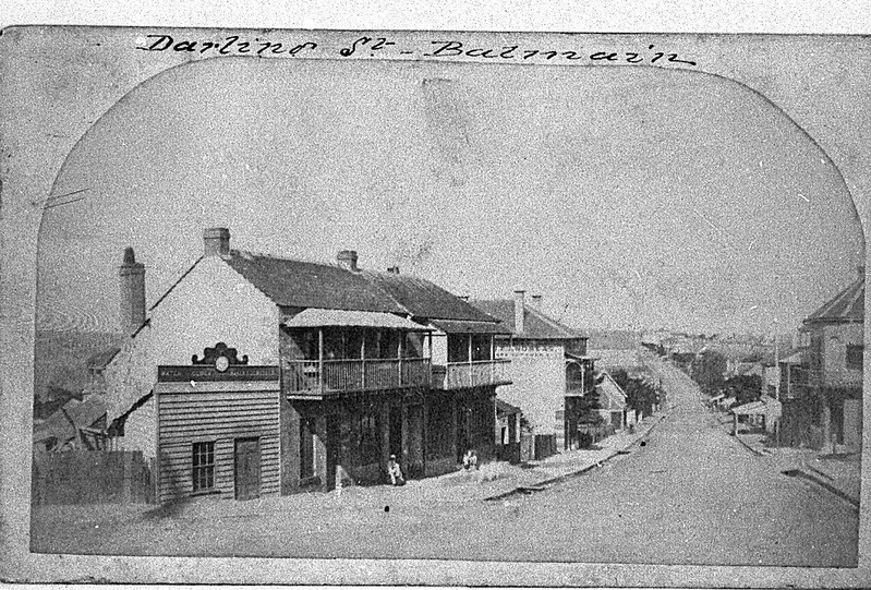 Balmain Darling Street before 1900