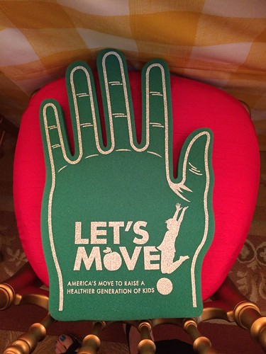 Let's Move foam hand