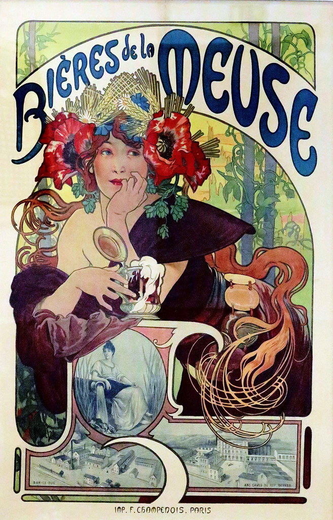 IMG_0004 Alfons Mucha. 1860-1939. Paris. United States. Prague. Publicity for Meuse beers. 1897. Hannover. Sprengel Museum.
