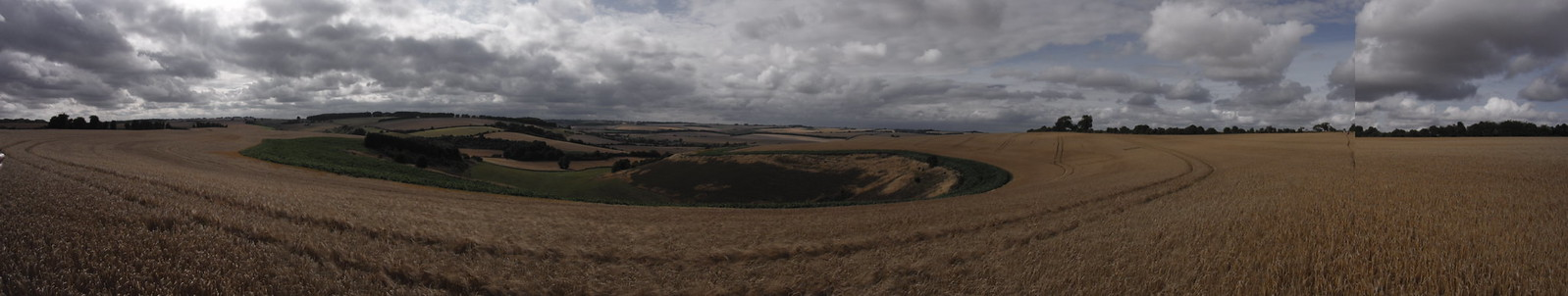 Panoramic view of unnamed Down SWC Walk 254 Salisbury Circular