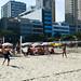 Jugando al voley tenis en la playa de Ipanema