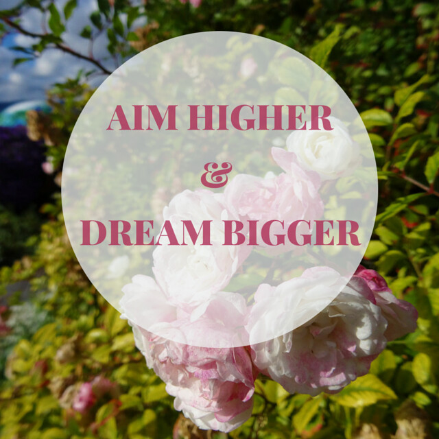 Aim higher& DREAM BIGGER (1)