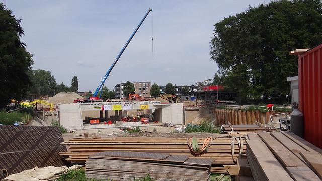 Station Harderwijk, 1 augustus 2015 tunnel werkzaamheden