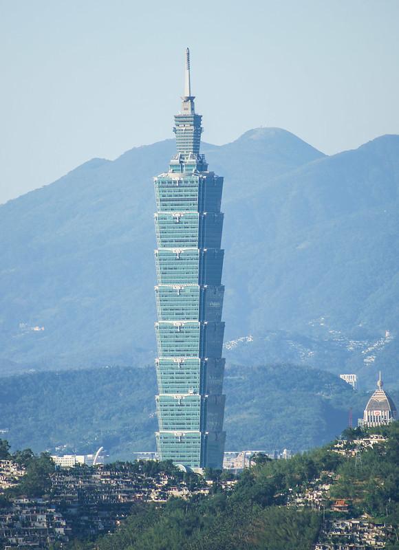 Taipei 101 Taiwan pilvenpiirtäjä skyscraper vuori mountain