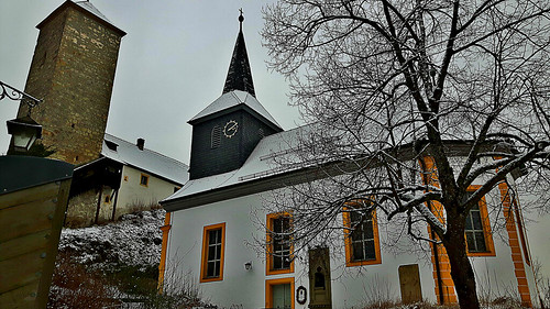 Schlosskirche zu Aufsess in Franconian Switzerland, Bavaria, Germany. January 3, 2017
