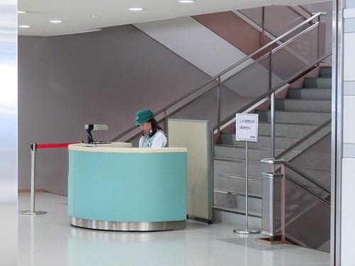 中山競馬場のゴンドラ指定席入口
