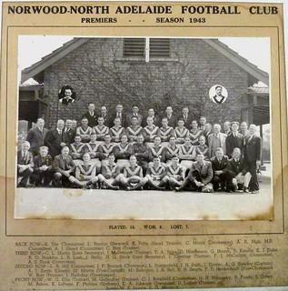 Norwood-North Adelaide Football Club - Premiers - Season 1943