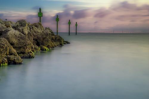 ocean beach sunrise pier unitedstates florida landscapephotography annamariaisland manateecounty publicpier