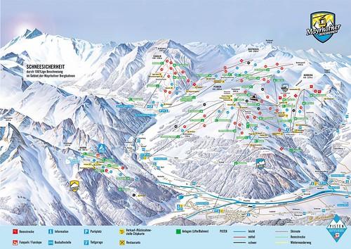 Mayrhofen / Ski Zillertal 3000 - mapa sjezdovek