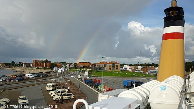 doppelter Regenbogen über Wyk