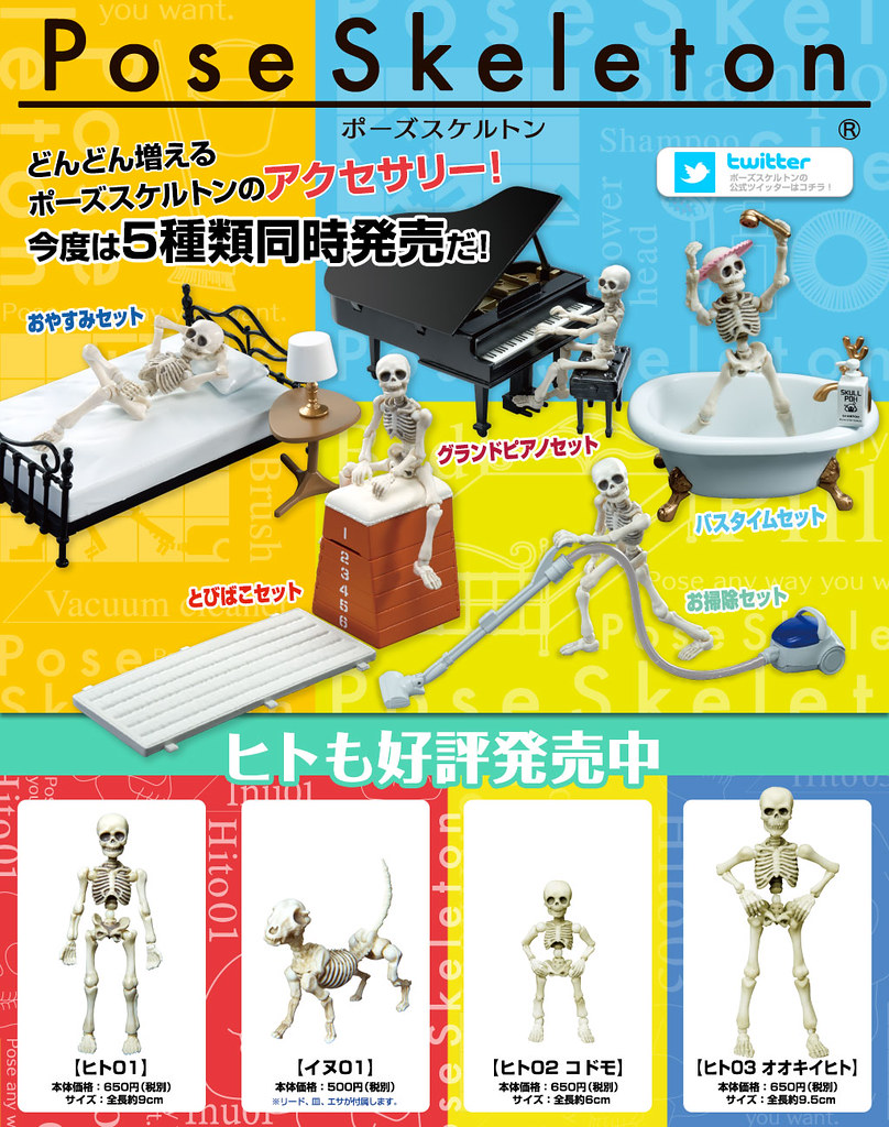 RE-MENT【療癒骷髏人】Pose Skeleton 系列 第三彈