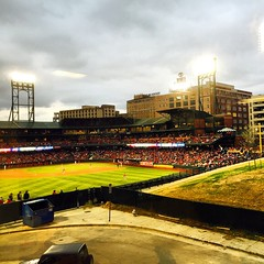 2015-04-03; St. Louis Cardinals vs their AAA affiliate The Memphis Redbirds during an exhibition game at newly renovated AutoZone Park, Memphis TN #memphistennessee #memphistn #memphis #tennessee #tn #901 #mtown #cityofmemphis #city #choose901 #memphissha